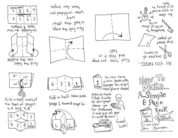 How To Make an 8 Page Zine